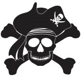 16295110-skull-with-captain-pirate-hat-and-cross-bones-black-and-white-illustration