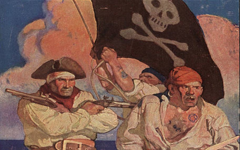 pirates-flying-the-Jolly-Roger