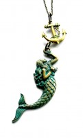 Mermaid and anchor necklace brass.jpg